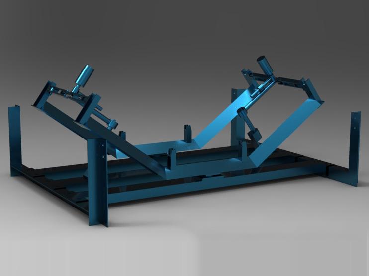 皮带输送机全自动纠偏器2